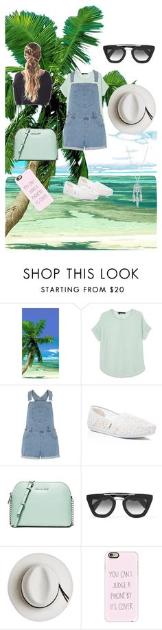 """""""photo shoot at the beach"""" by mooeystache on Polyvore featuring 360 Sweater, Dorothy Perkins, TOMS, MICHAEL Michael Kors, Prada, Calypso Private Label, Casetify and Lucky Brand"""
