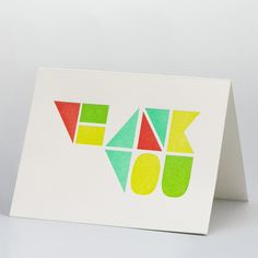 WK Studio -  Thank You Card $4