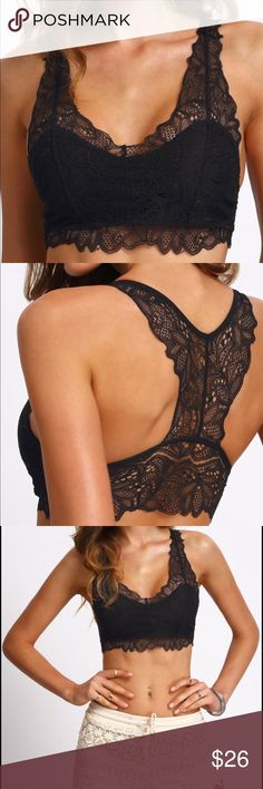 Sexy & Hot Black Y-Back Lace Lingerie Bra Black Y-Back Lace Lingerie Length(cm) : 30cm Size Available : one-size Bust(cm) : 70-80cm Material : Lace Pattern Type : Plain Type : Bras Fabric : Fabric has no stretch Color : Black.  F6 Intimates & Sleepwear Bras