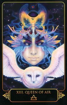 Queen of Air. Dreams of Gaia Tarot by Ravynne Phelan.
