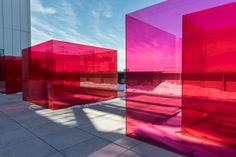 Larry Bell, Pacific Red II, Inside the Whitney Biennial: Four Artists to Watch – The Line Les Gobelins, Theme Color, Whitney Museum, Art Graphique, Land Art, Light Art, Public Art, Store Design, Architecture