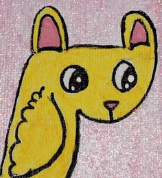 The Menagerie Collection Yellow bunny Duck 4x4 by kitncatherine, $5.00