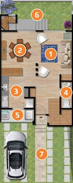 Desain Rumah Minimalis The Sims 3  elevations floor plans