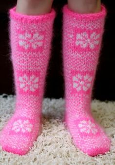 New Hand knitted mohair ICELANDIC socks FUZZY soft PINK leg warmers SUPERTANYA