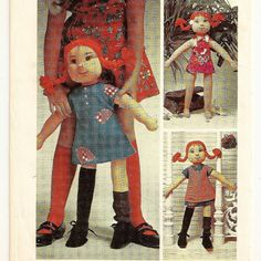 Simplicity 6063, A Pippi Longstocking© Rag Doll and Changeable Wardrobe Pattern by So Sew Some!