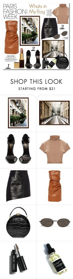 """""""What's In My Bag"""" by stylemaven2 ❤ liked on Polyvore featuring Pottery Barn, Yves Saint Laurent, Helmut Lang, Aspinal of London, Ann Demeulemeester, Bobbi Brown Cosmetics, Tom Ford, travel, WhatsInMyBag and parisfashionweek"""