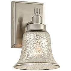 "Possini Euro 9 1/2"" High Mercury Glass Bath Wall Sconce"