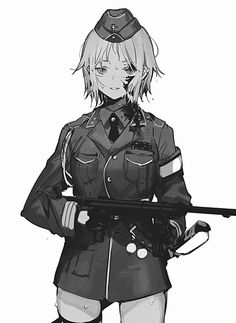 Anime Military, Military Women, Comic Pictures, Manga Pictures, Black Girl Art, Art Girl, Idf Women, Weapon Concept Art, Girls Frontline