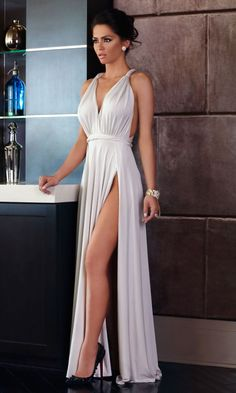 Ivory evening gown