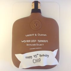 Woodford Reserve bottle birthday cake - Sweets by Millie