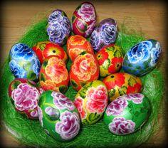 Pisanki jajka One stroke  One stroke easter eggs