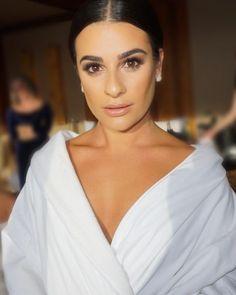 Lea Michele's makeup for Becca Tobin's wedding