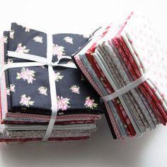 Lot de 10 coupons de tissu tilda coton imprimé fleuri, promo,  patchwork, 45*45 cm