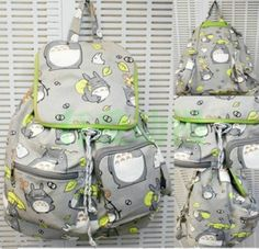 New My Neighbor Totoro Ghibli Cosplay backpack School Bag canvas Bag