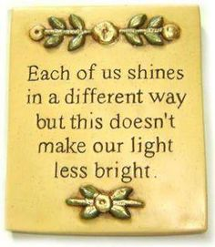 ..and together our light is BRILLIANT!