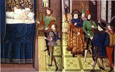 Mort de Dagobert (639) Chronique des empereurs, XV°s, Paris, bibliothèque de…