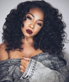 Gorgeous curls ➰ on @chanelbrookelyn styled by @tracy_stylist ❤️ That lip color is everything  #voiceofhair========================== Go to VoiceOfHair.com ========================= Find hairstyles and hair tips! =========================