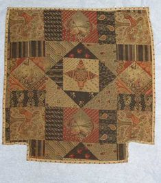 whole cloth doll quilt  1876-1886