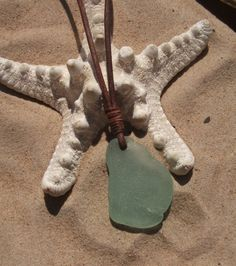 Sea glass jewelry Aqua Sea Glass Necklace by byNaturesDesign, $14.00