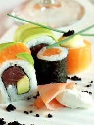 I love to eat sushi. It looks so fresh Good Food, Awesome Food, Sushi, Sweet Tooth, Favorite Recipes, Restaurant, Fresh, Dishes, Cape Town
