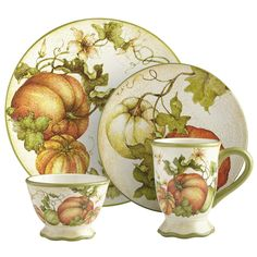 Pier 1: Harvest Garden Dinnerware- Ordered for my fall dishes.  Jim says I have too many.  I say what is too many?