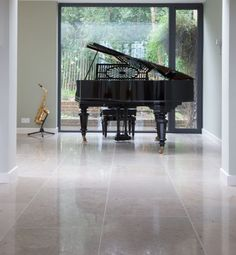 Firmdale Limestone in a honed finish. These limestone floor tiles look sleek and contemporary.