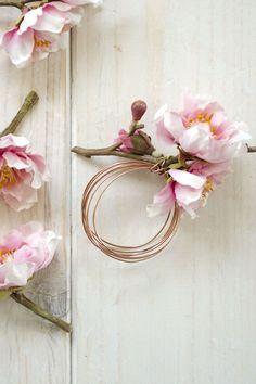 DIY Floral and Copper Napkin Rings