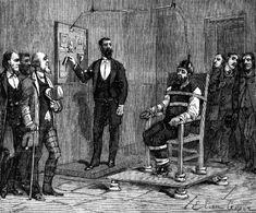 William Kemmler, premier homme à être exécuté sur la chaise électrique, en 1891, pour avoir assassiné sa concubine à l'aide d'une hache     eures du matin à la Prison d'Auburn. Ses avocats firent appel, arguant du fait que l'électrocution était une punition atroce et inhabituelle ; George Westinghouse, un de ceux qui soutenaient l'usage du courant alternatif comme norme pour la distribution d'énergie, appuya leur appel, qui fut cependant rejeté en partie parce que Thomas Edison approuva la…