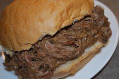 Crockpot Hot Beef Sandwiches---this is so a keeper!!  Incredibly good!