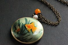 Good Luck Goldfish Necklace. Tropical Fish by StumblingOnSainthood