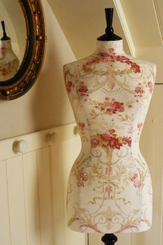 "Floral dress form - I really want a ""shabby chic"" office ... and I think this would really fit the bill as some decor.  :)"
