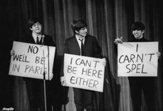 Funny pictures about The Beatles Were Hilarious. Oh, and cool pics about The Beatles Were Hilarious. Also, The Beatles Were Hilarious photos. Paul Mccartney, John Lennon, George Harrison, Satire, Beatles Funny, Beatles Photos, Pop Rock, Funny Comments, The Fab Four