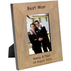 Engraved Best Man Wood Photo Frame - 6x4  from Personalised Gifts Shop - ONLY £16.95