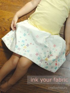 print your own fabric with Ink Effects paint - so cool!