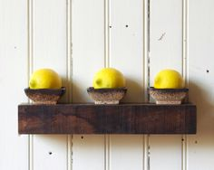 Rustic Floating Shelf // Reclaimed Wood // Small // In Stock. $54.00, via Etsy.