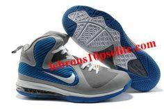 """Nike Zoom LeBron 9(IX) """"China Editon"""" Grey/Blue"""