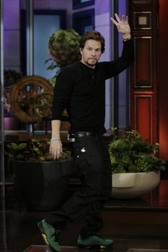 Mark Wahlberg on 'Leno.' Styling by Samantha McMillen.
