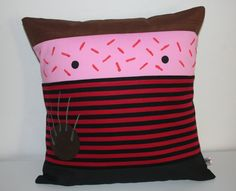 Halloween Freddy Krueger  pillow cushion cover kawaii Terror 40x 40 cm 16 x 16 Inches  nightmare on elm street by Morondanga on Etsy