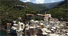 "Cinque Terre, Italy- South of Genoa/5 villages on cliff side/ home of ""pesto""/hike each village in 1 day/terrace vineyards"