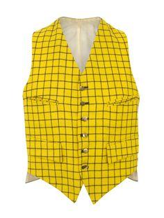 Priestley's Vintage  Yellow Check Waistcoat