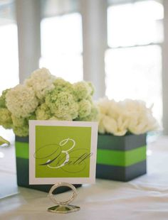 use wedding colors for vases