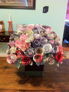 Beautiful paper flowers that a husband made for his wife on their 1st anniversary- the Paper Gift. Photo Album - Imgur