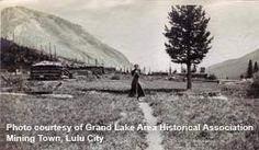 Mining Town Lulu City.    Photo Courtesy of Grand Lake Historical Association.
