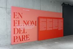 """Graphic design and communication applications for the exhibition """"In the name of the father"""", For Museu Picasso de Barcelona. Exhibition Plan, Museum Exhibition Design, Exhibition Display, Exhibition Space, Design Museum, Retail Signage, Wayfinding Signage, Signage Design, Environmental Graphics"""