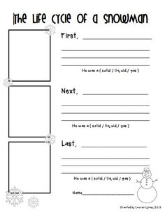 Worksheets Cycles Of Matter Worksheet states of matter life cycles and free printables on pinterest this little science activity teaches the while incorporating snowmen perfect for your snowman unit idea found pinte