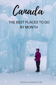The Best Time To Visit Canada: Where to Go Each Month The ultimate guide on where in Canada to visit and when. & Canada Travel Guide & When to visit [& Pvt Canada, Canada Vancouver, Ontario, Cool Places To Visit, Places To Travel, Places To Go, Visitar Canada, Canada Winter, Canada Day