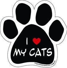 Imagine This Paw Car Magnet, I Love My Cats, 5-1/2-Inch by 5-1/2-Inch by Imagine This, http://www.amazon.com/dp/B0068H81M8/ref=cm_sw_r_pi_dp_vbChsb15EV19A
