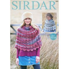 Check out Sirdar 7878 Crochet Ponchos at WEBS | Yarn.com.