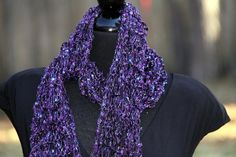 SALE  Sumptuous DoubleStrand Knit Scarf in by SistersArtisans, $37.50