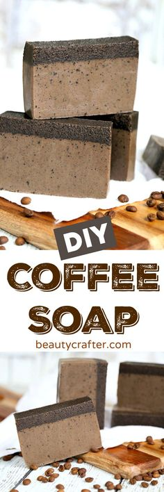 DIY Coffee Soap Recipe - Easy Melt and Pour Coffee Soap, perfect as a homemade gift #crafts #coffee #soap #diy #soapmaking